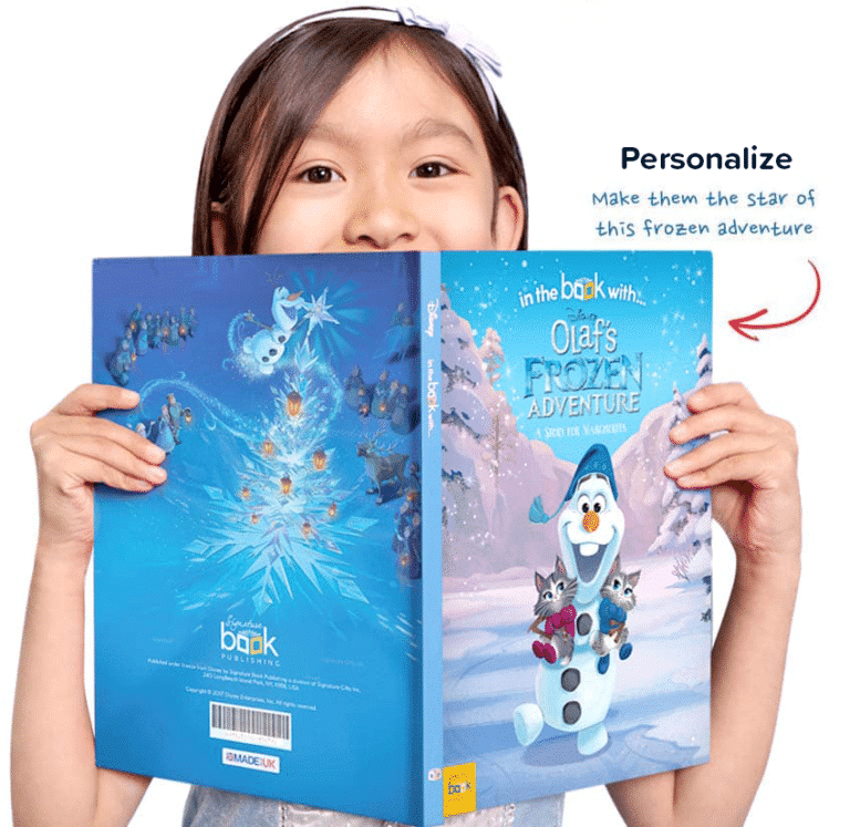 frozen book personalised