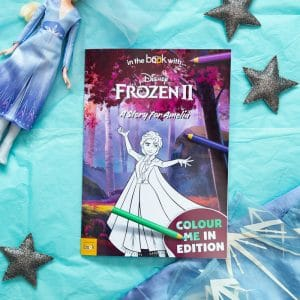 frozen 2 personalised colouring book