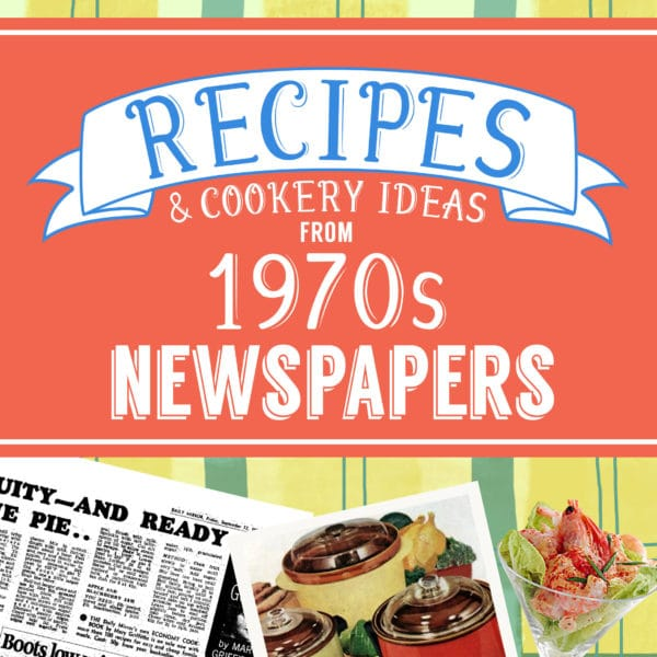Personalized 1970s Recipe Book