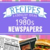 Personalized 1980s Recipe Book