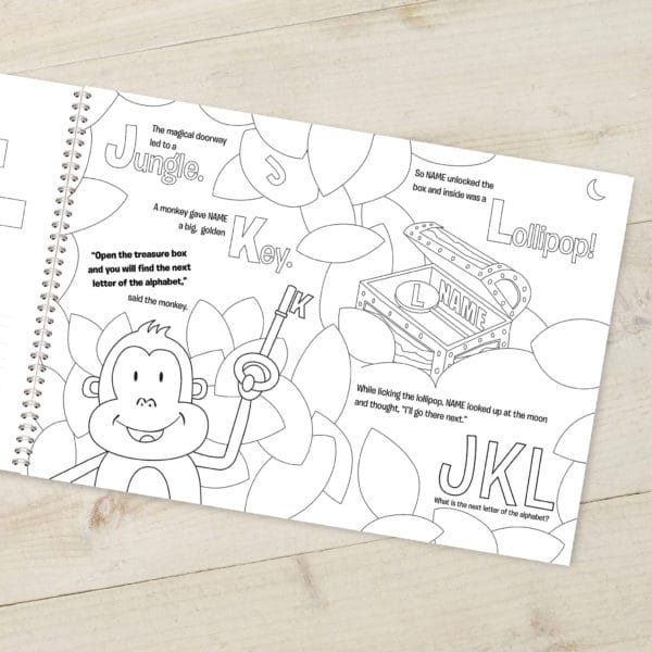 Personalized Alphabet Coloring book