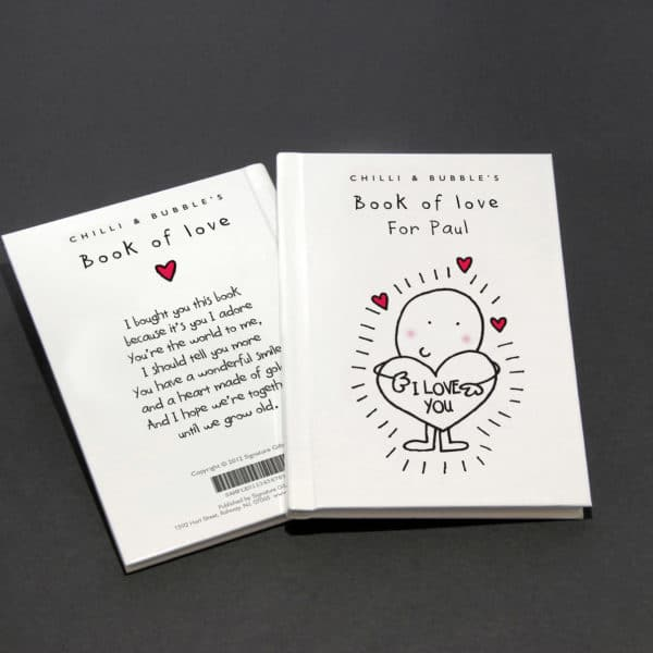 personalized book of love