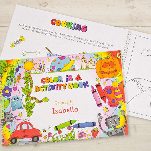 color in activity book