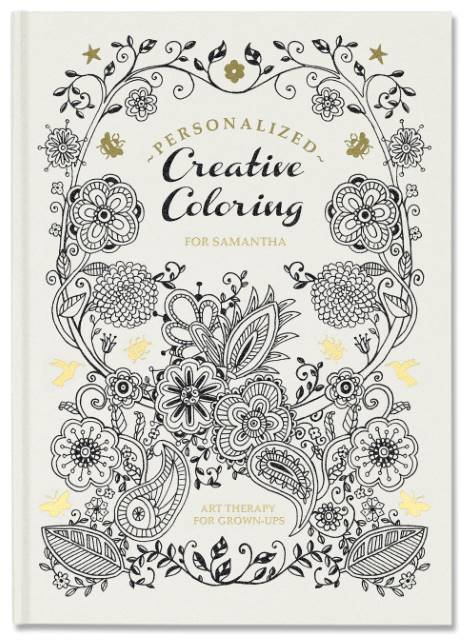 personalized paisley coloring book
