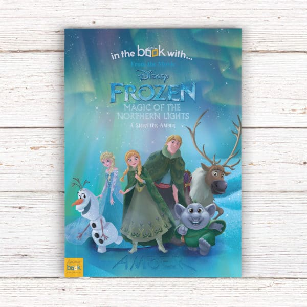 Personalized frozen Northern lights book