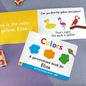 Board book for Toddlers Colors