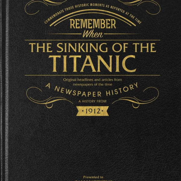 History Of the Titanic Book