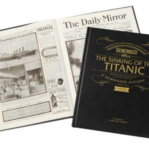 personalized titanic newspaper book