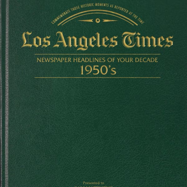 LA Times newspapers of the 1950s
