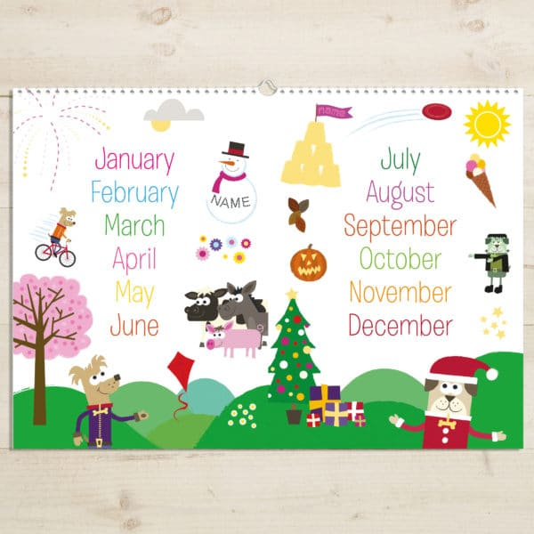 Months of the Year Activity book