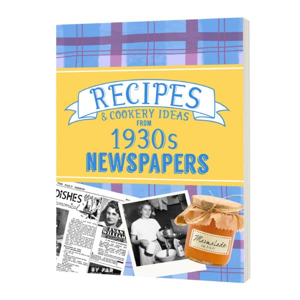 Personalized 1930s Recipe Book
