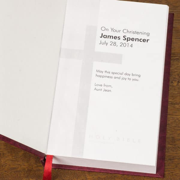Personalized King James Bible