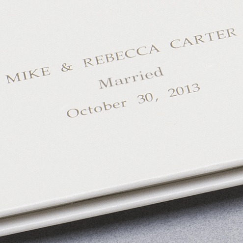 our first year Wedding/Anniversary book