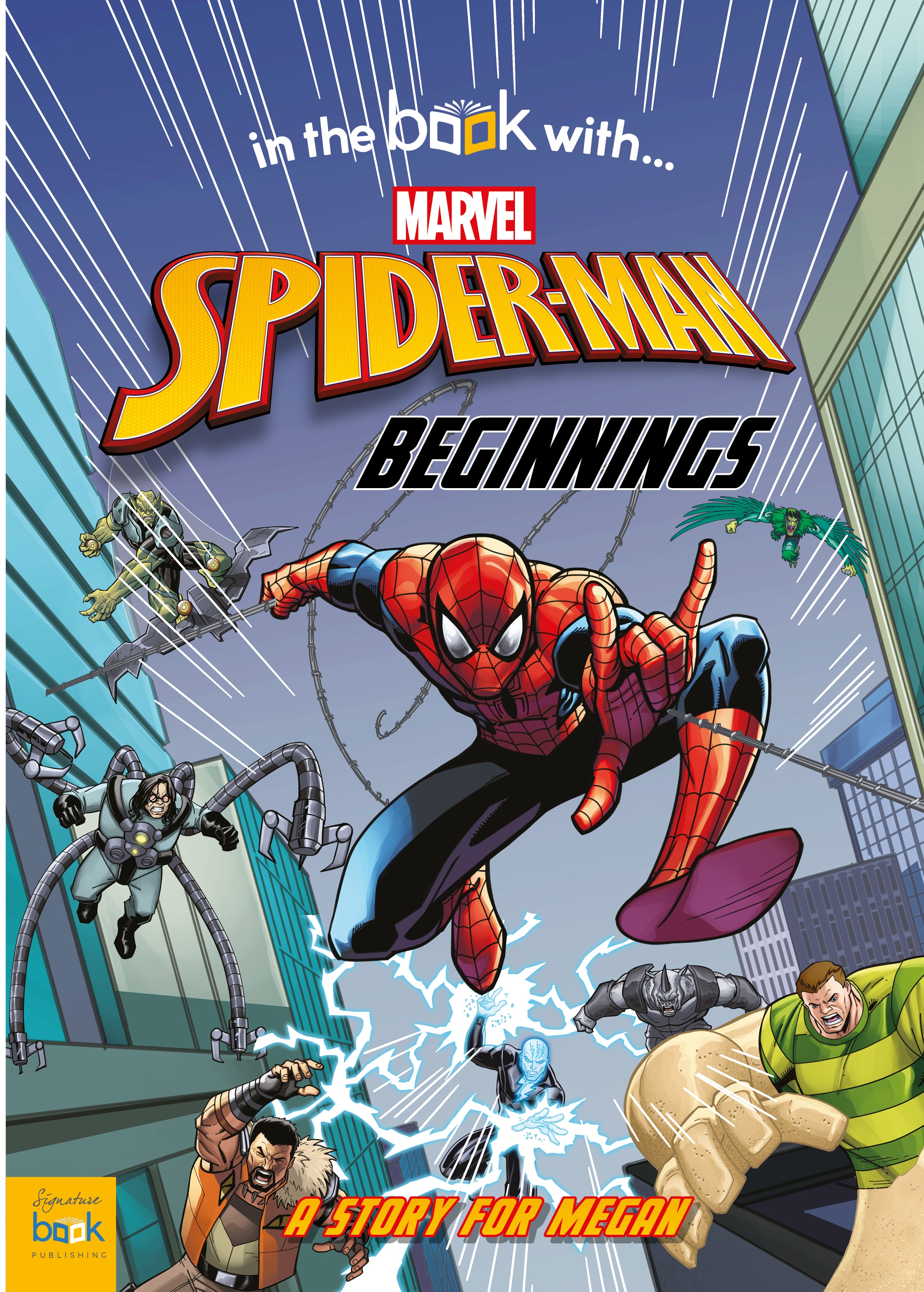 spiderman story book cover