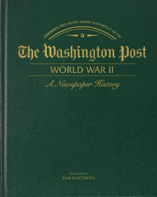 world war ii newspaper book