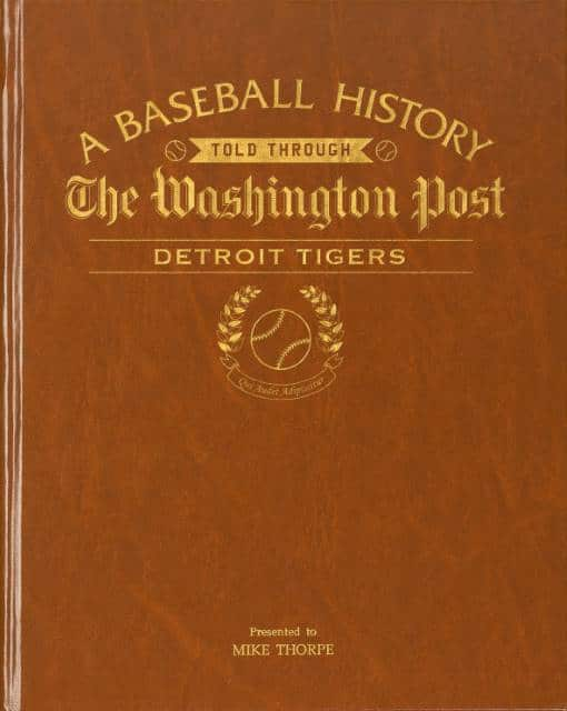 History of Baseball Detroit Tigers Book
