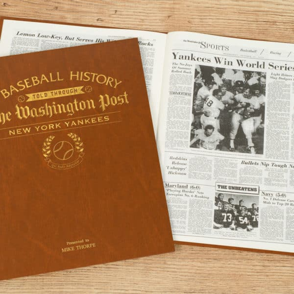 History of Baseball New York Yankees Book