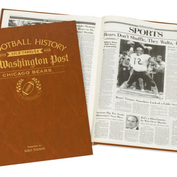 History of Football Chicago Bears Book
