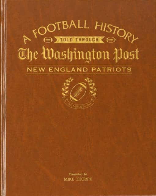 History of Football New England Patriots Book