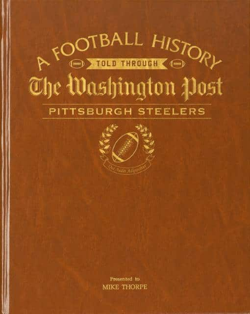 History of Football Pittsburgh Steelers Book