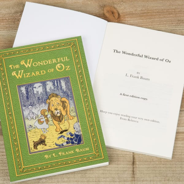 personalized wizard of oz book