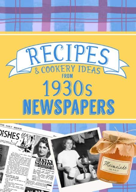 recipes from the 1930s