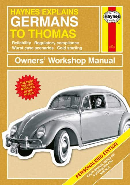 Personalized Haynes Germans Manual