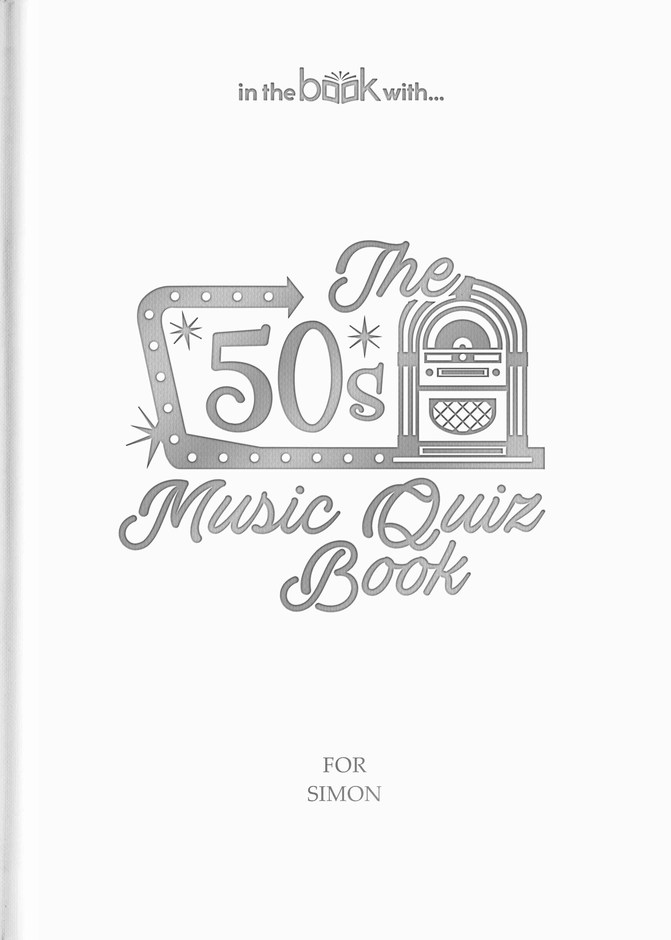 50s personalized music book