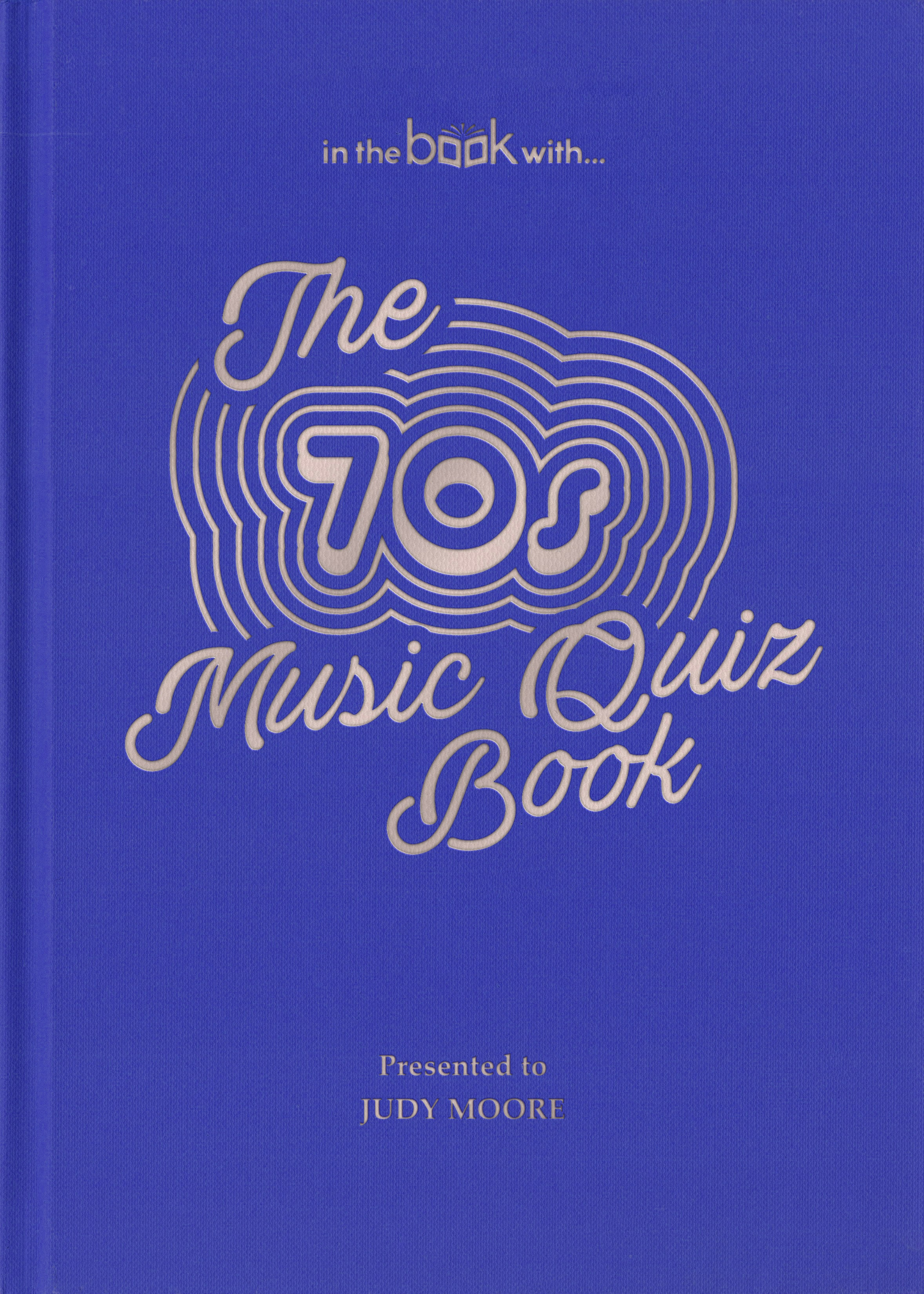 70s personalized music book