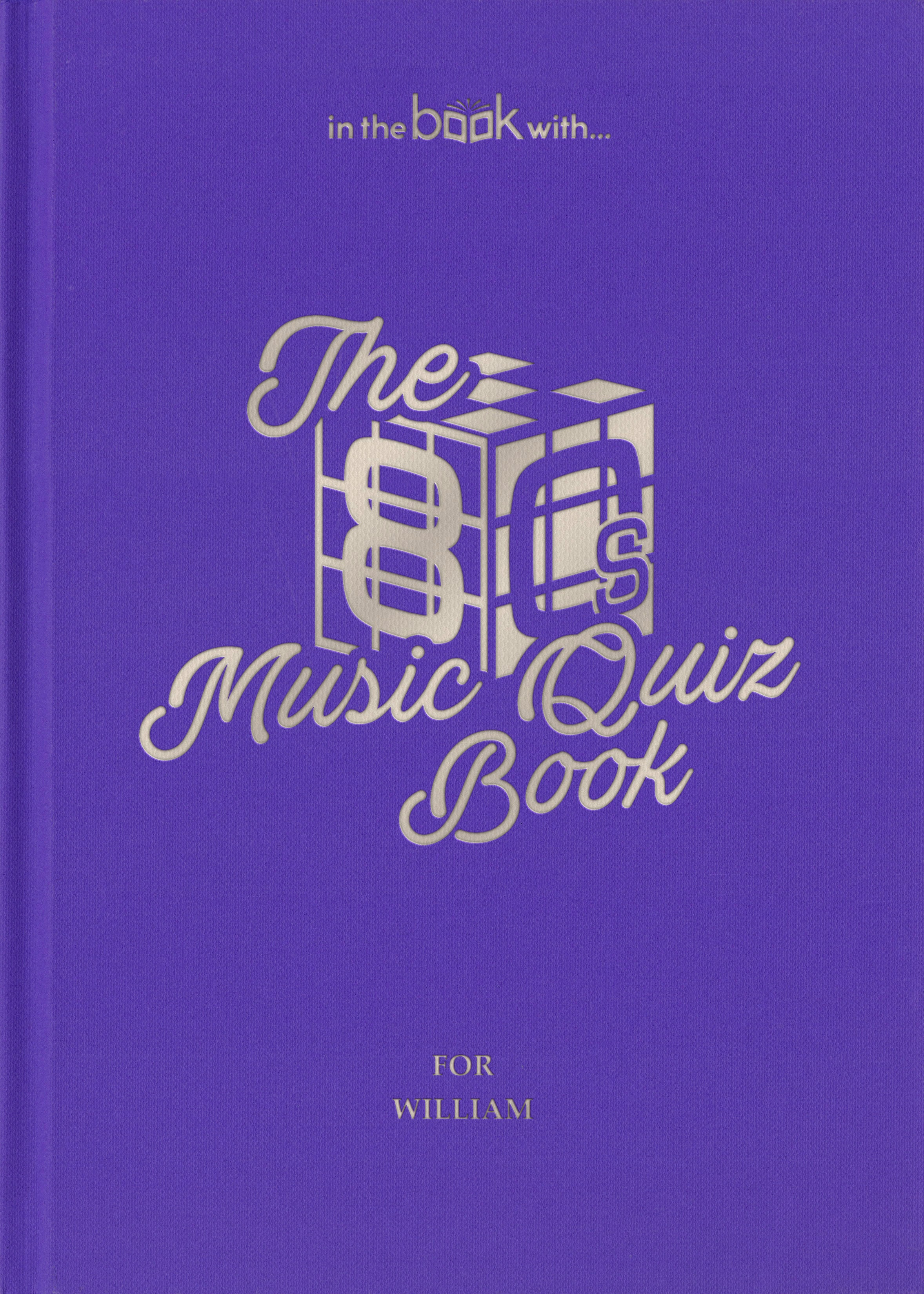 80s personalized music book
