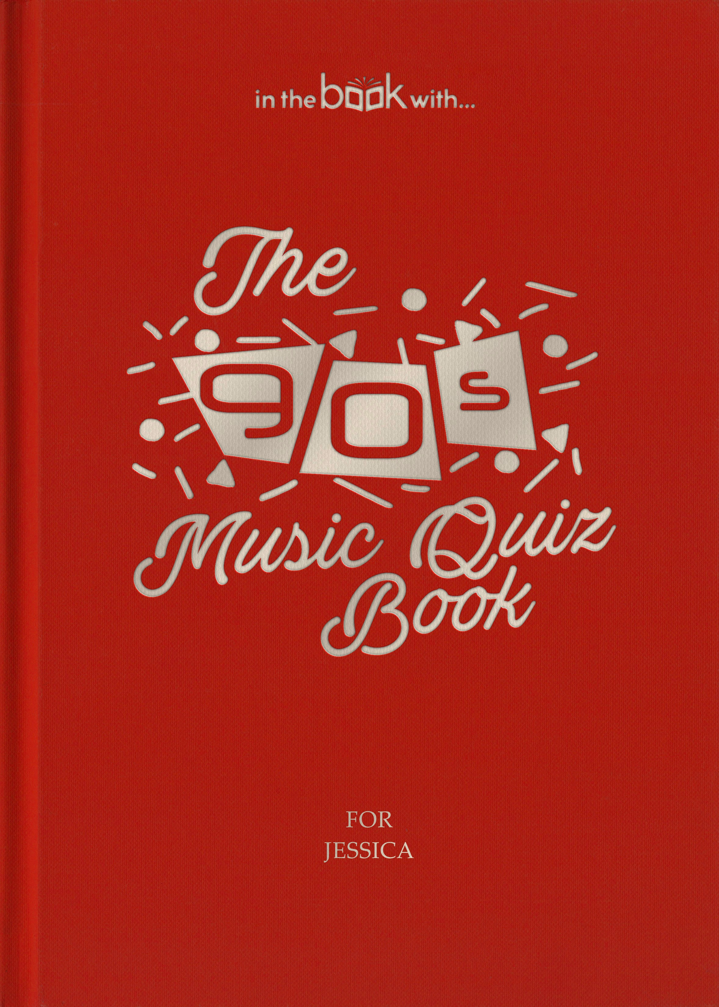 90s personalized music book