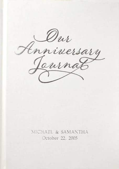 anniversary journal cover image