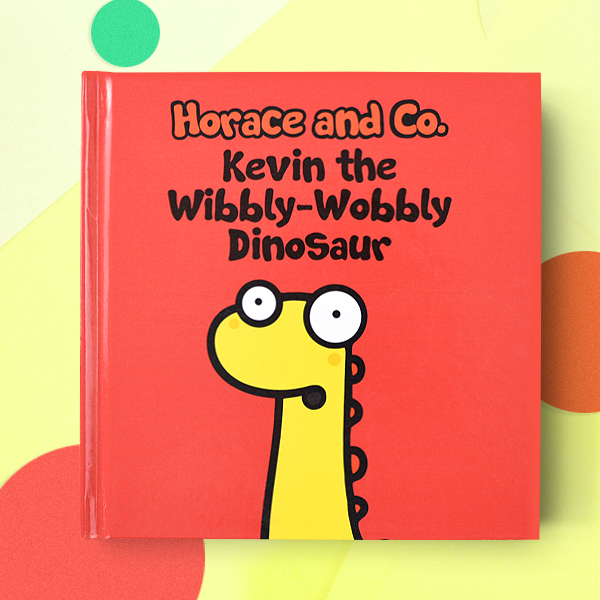 Personalized wibbly wobbly dinosaur book