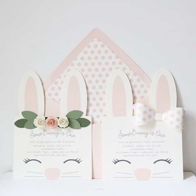 Bunny invite DIY