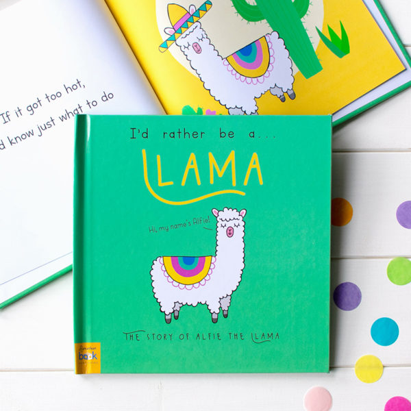 "Personalized ""I'd Rather Be A Llama"" Book"