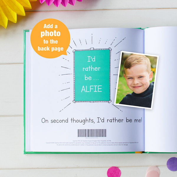 """Personalized """"I'd Rather Be A Llama"""" Book"""