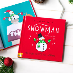 """Personalized """"I'd Rather Be A Snowman"""" Book"""