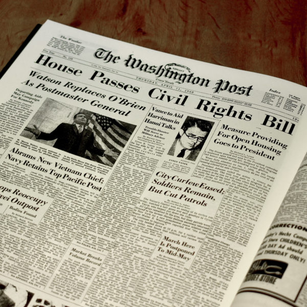 civil rights movement newspaper