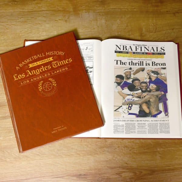 LA Lakers Newspaper Book