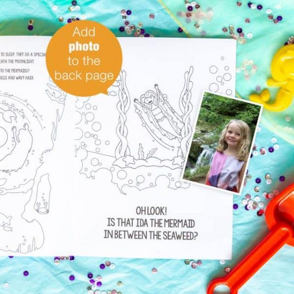 personalized mermaid coloring book